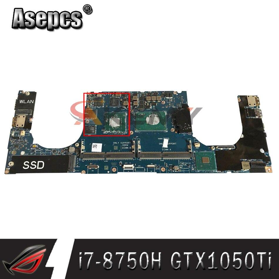 100% العمل DAM00 LA-F541P لديل XPS 15 9570 اللوحة YYW9X 0YYW9X CN-0YYW9X مع i7-8750H cpu + GTX1050Ti الجرافيك