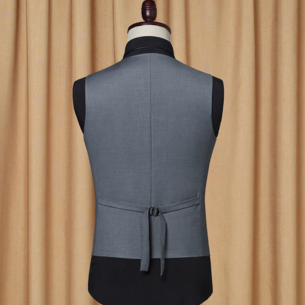 Mens Waistcoat Single-breasted Slim Fitted Suit Vests Business Clothing for Men Vests Groomman Wedding Black Grey Jacket