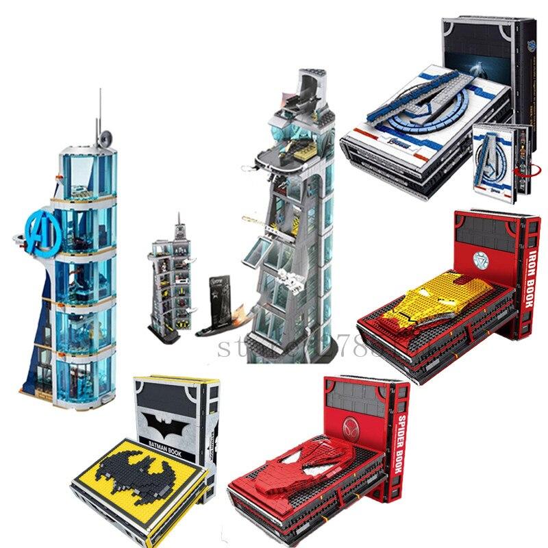 Nuevo libro de colecciones de figuras Spiderman Iron Man Fit AvengerING Tower 76166 MarveLL bloques de construcción ladrillos juguetes regalos