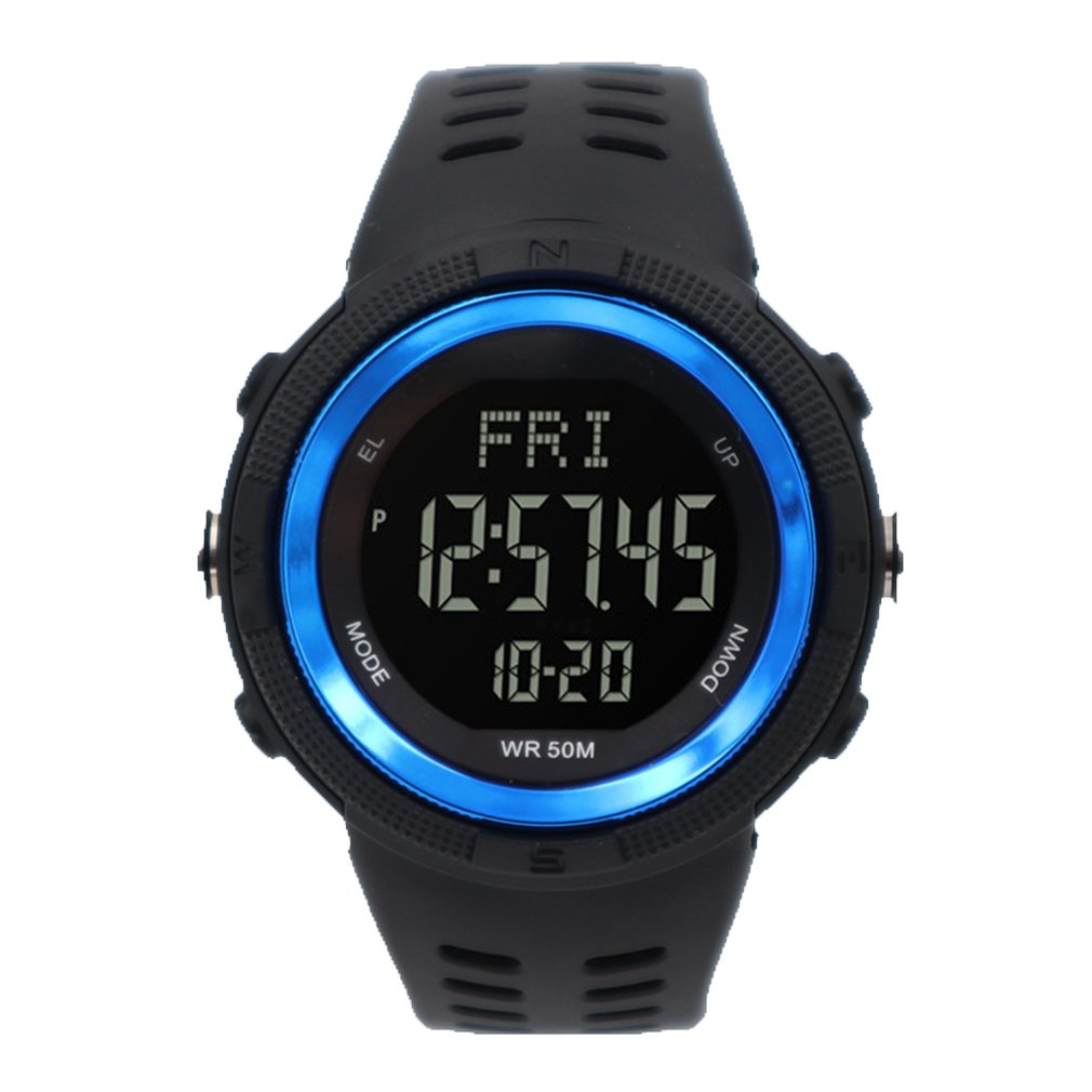Waterproof Mens Watches New Fashion Casual LED Digital Outdoor Sports Watch Men Multifunction Studen