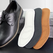 Ultra Thin Breathable Premium Leather Insoles for Shoes Men Women Elevator Shoes Inner Sole Inserts