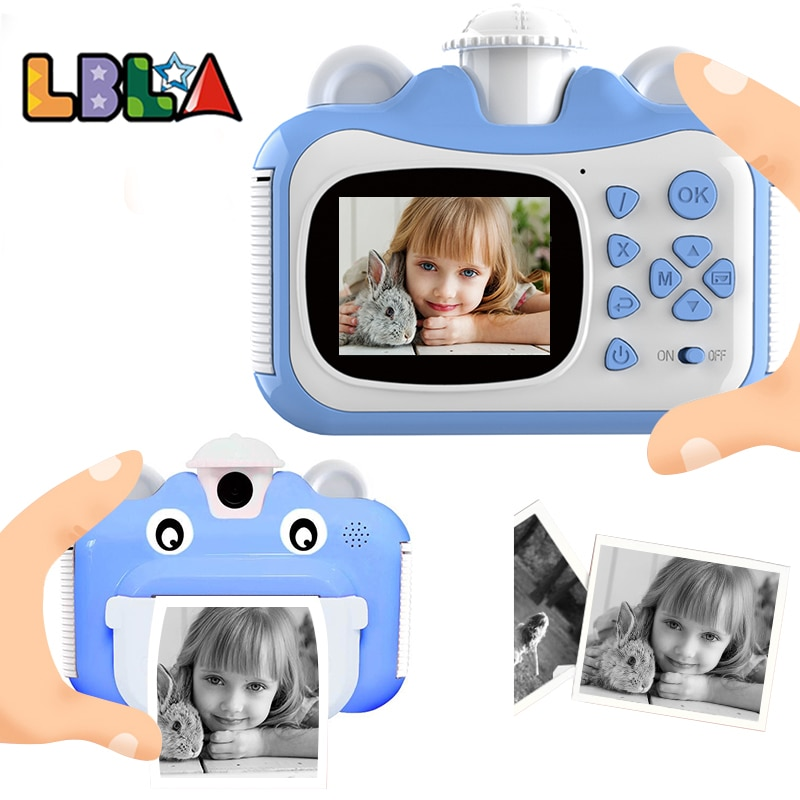 LBLA Kid Toy Mini Digital Cute Camera for Kids Baby Children's Toys Photo Instant Print Camera Birthday Gift for Girls Boys