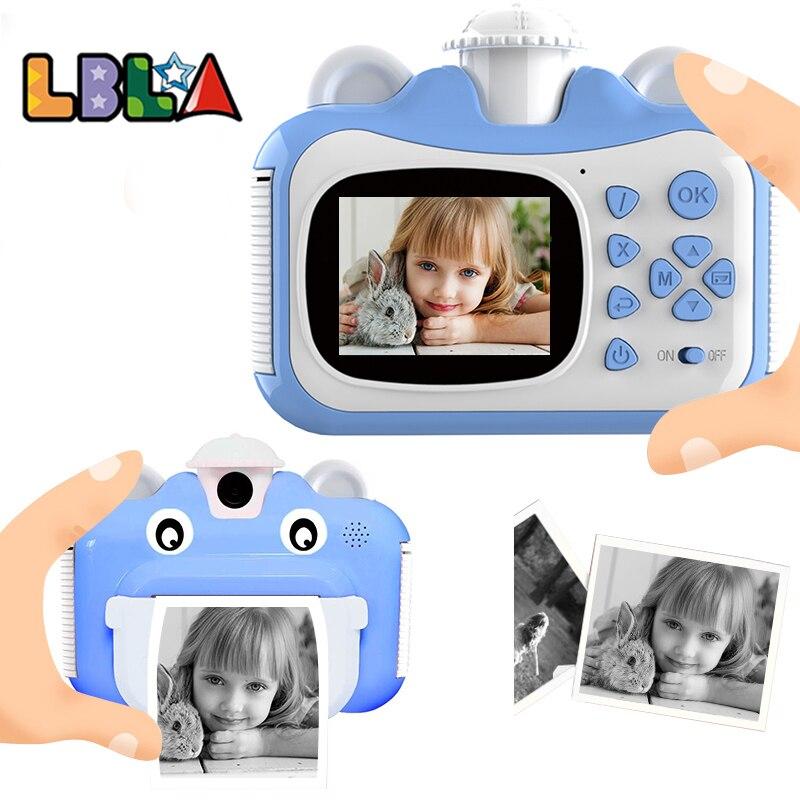 LBLA Kid Toy Mini Digital Cute Camera for Kids Baby Children's Toys Photo Instant Print Camera Birthday Gift for Girls Boys