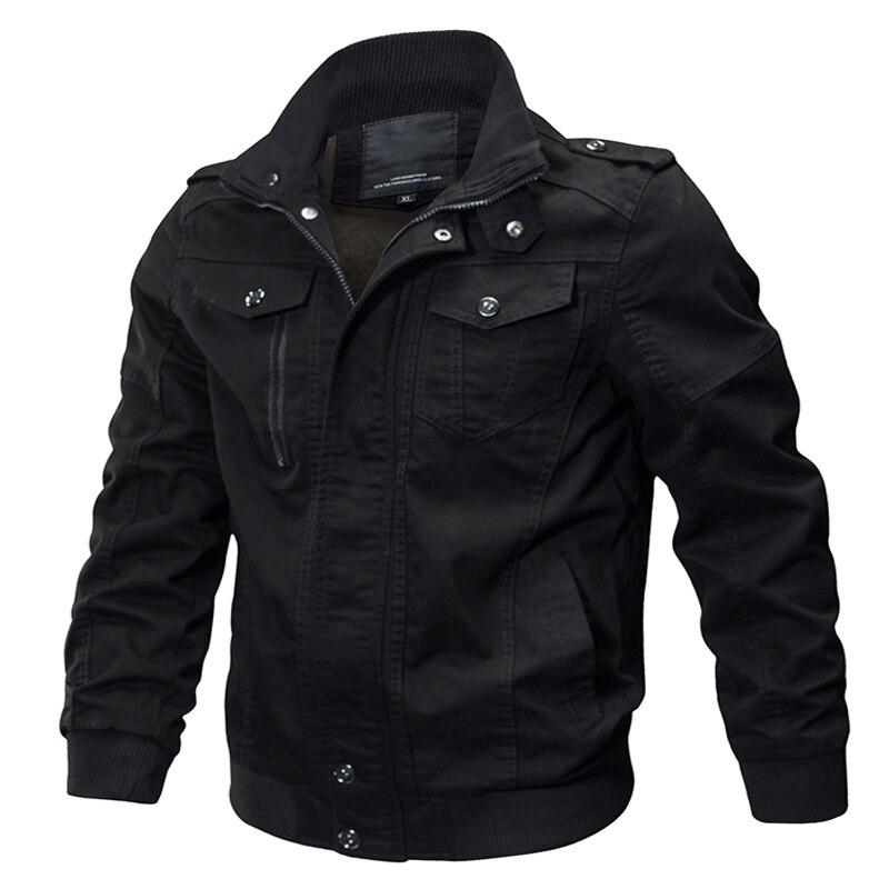 Куртка-бомбер в стиле милитари, мужские повседневные хлопковые мужские куртки и пальто, армейские Мужские приталенные пилотные куртки, муж...
