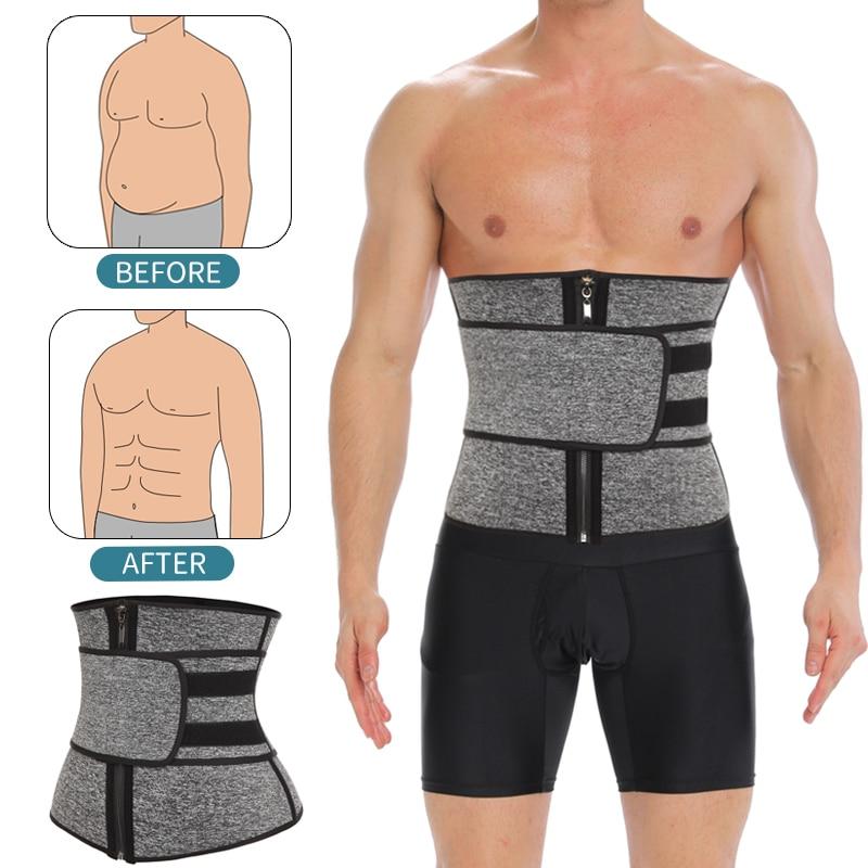 Cinturón modelador de cintura para hombre, faja moldeadora de abdomen para adelgazar, faja para perder peso, cinturón adelgazante para adelgazar el sudor