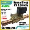 Electrovanne NC 98 m3/h 45mpa haute qualité convient pour le chauffage la climatisation le contrôle des processus et les automatisations industrielles