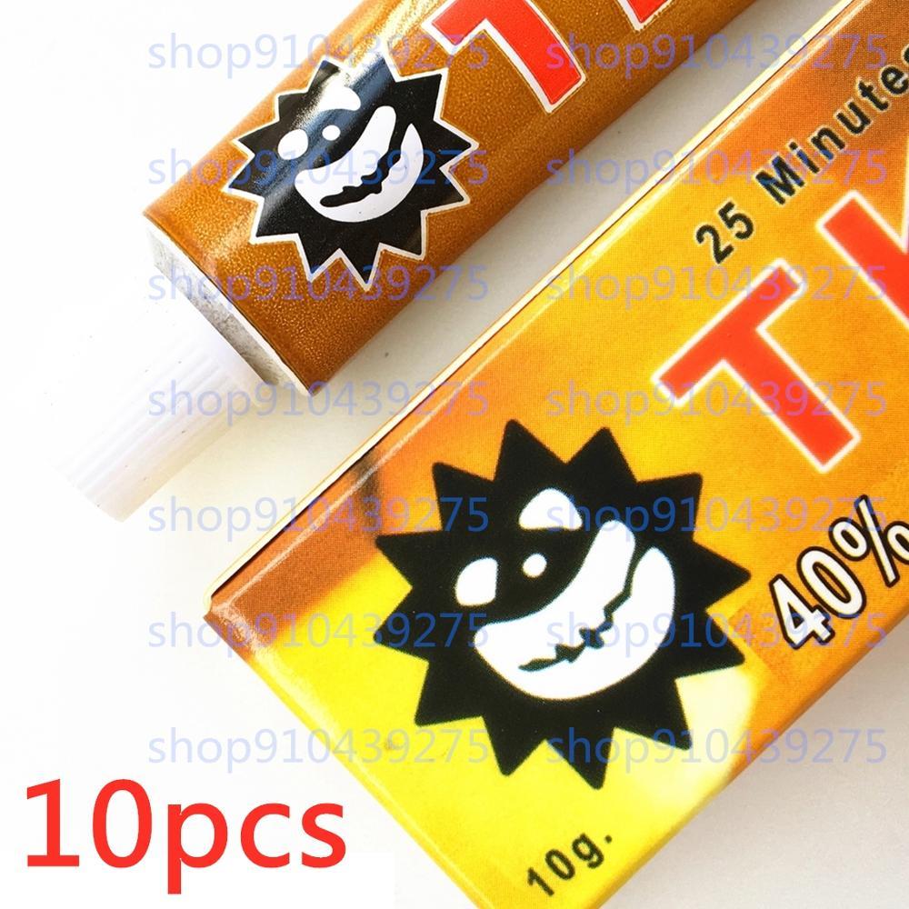 10pcs 10g 40% numb anestesia microblading tktx gold 40% Tattoo machine kit sticker ink supplies needles pen gun removal printer