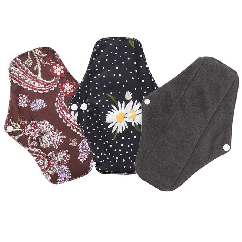 Sanitary Napkin Reusable Bamboo Charcoal Sanitary Pad Mom Menstrual Cotton Pads Washable Panty Lining Pad Healthy Women