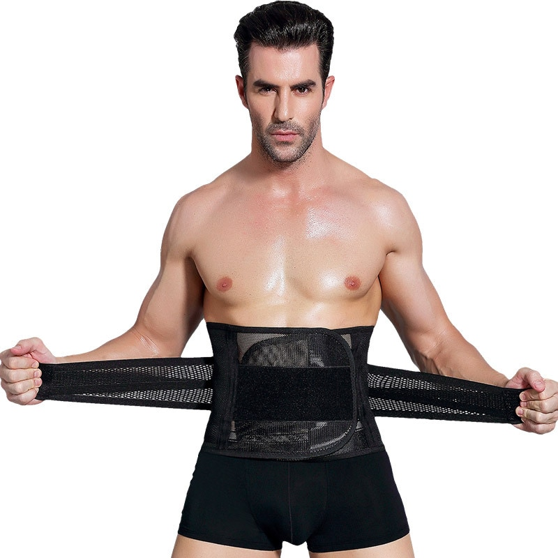 Hombres vientre Abdomen grasa quemador cinturón cuerpo cintura entrenador faja Deporte Fitness vendaje modelado Correa adelgazante moldeador de cuerpo