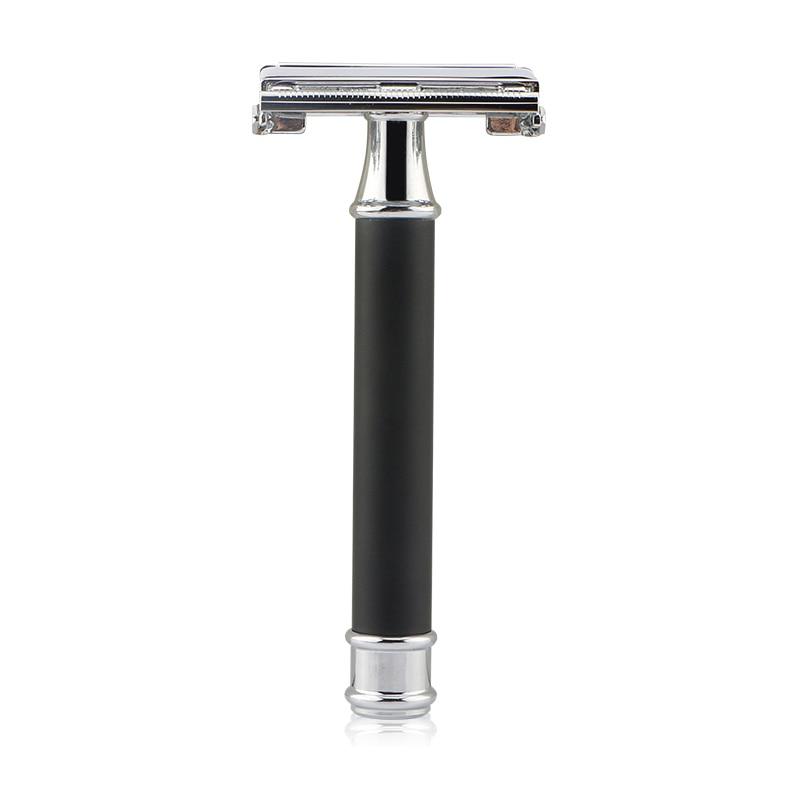 Edieu Safety Razor Men's Butterfly Razor Classic Manual Shaver For Shaving&Women Hair Removal Zinc Alloy Black Handle 10 Blades