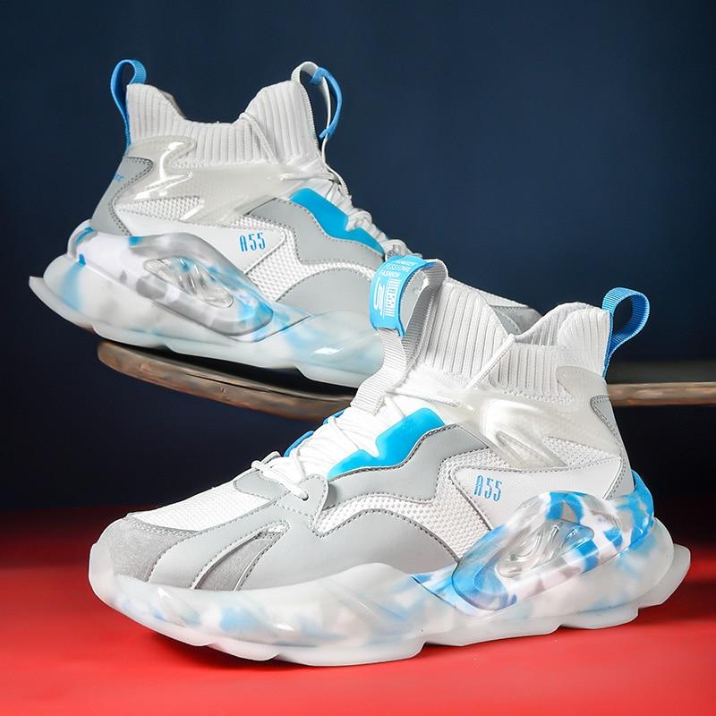 Zapatos De malla transpirables para Hombre, zapatillas con suela De palomitas De...