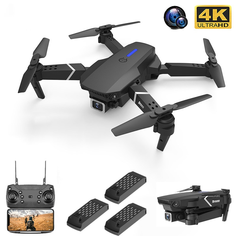 2021 NEW Drone 4k profession HD Wide Angle Camera 1080P WiFi fpv Drone Dual Camera Height Keep Drone