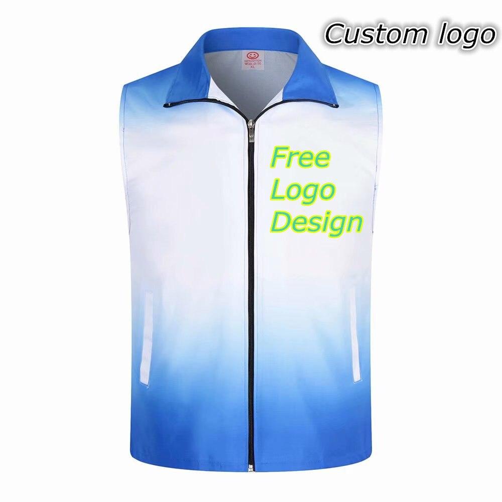Preço de fábrica! 1PCS LOGOTIPO Personalizado Gratuitamente Gradiente Colete de Segurança de Alta visibilidade Reflexiva impressão do logotipo uniformes de trabalho de Construção