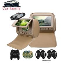 2PCS 9 Inch Auto Kopfstütze Monitor DVD Player TFT LCD Bildschirm Mit Zipper Abdeckung Unterstützung IR/FM Transmitte /USB/SD/Lautsprecher/Spiel