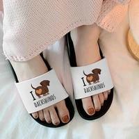 summer shoes for woman cartoon lovely pug women non slip slippers 2021 girl home indoors shoes bathroom flip flops beach sandals