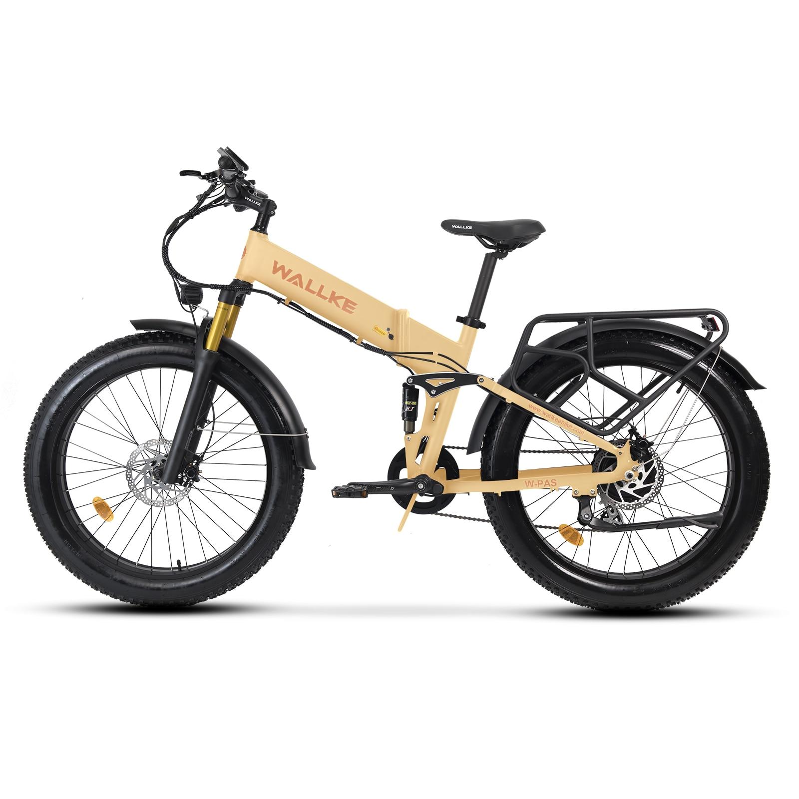 W walke X3 Pro دراجة كهربائية قابلة للطي Ebike 750 واط 26 بوصة دراجة جبلية كهربائية ، 26MPH الكبار دراجة كهربائية ، قابلة للإزالة 48 فولت Lith