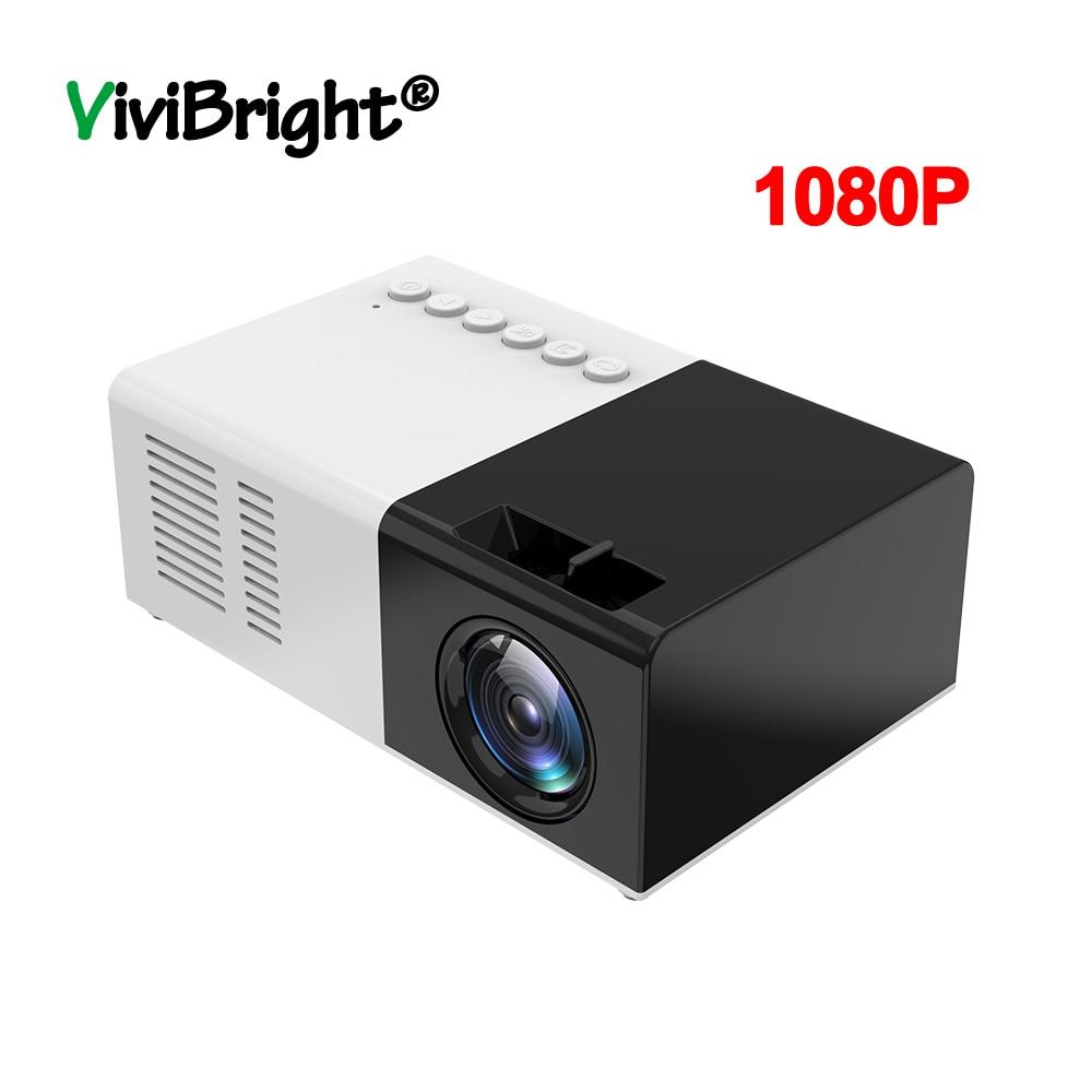 J9 YG-300 Mini proyector 1080P soporte 1080P AV USB tarjeta SD USB Mini proyector de Casa portátil Mini Beamer de bolsillo