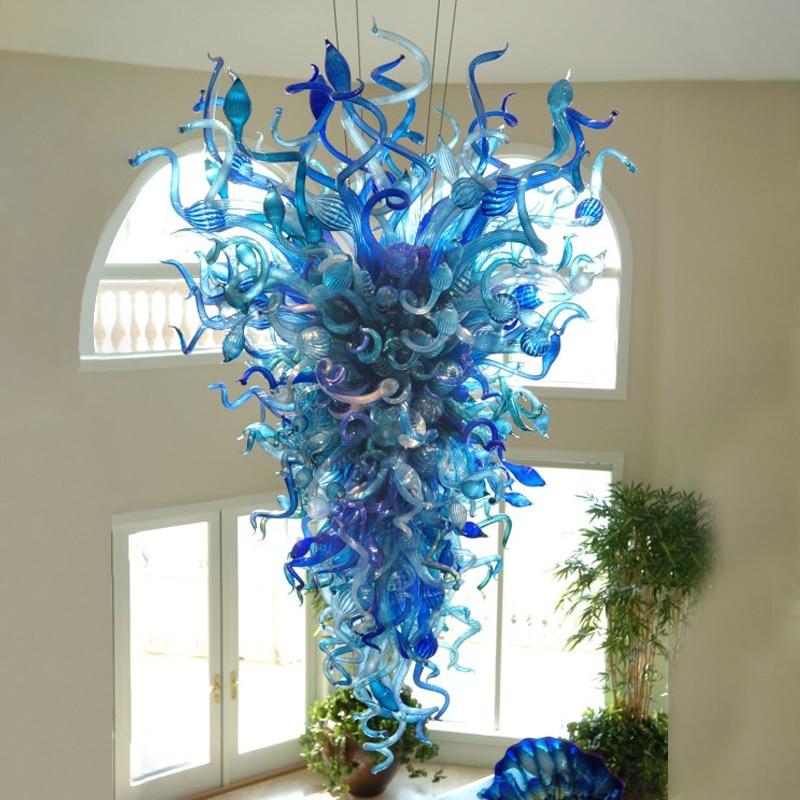 Modern Led Hand Blown Glass Chandelier Lamp in The Hallway Pendant Lamps for Corridor Bedroom Restaurant Balcony Aisle Home Ligh