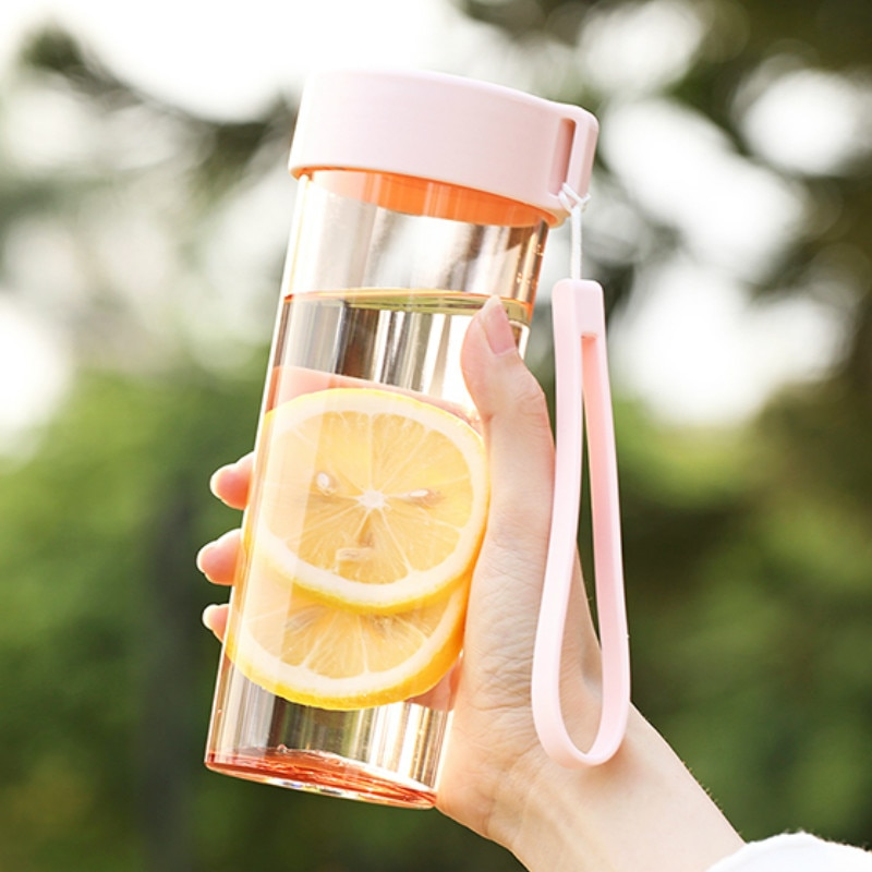 Botella de agua portátil para deportes al aire libre, recipientes de agua de plástico, botellas para niñas, botellas de agua, botella para malteadas HH50SP