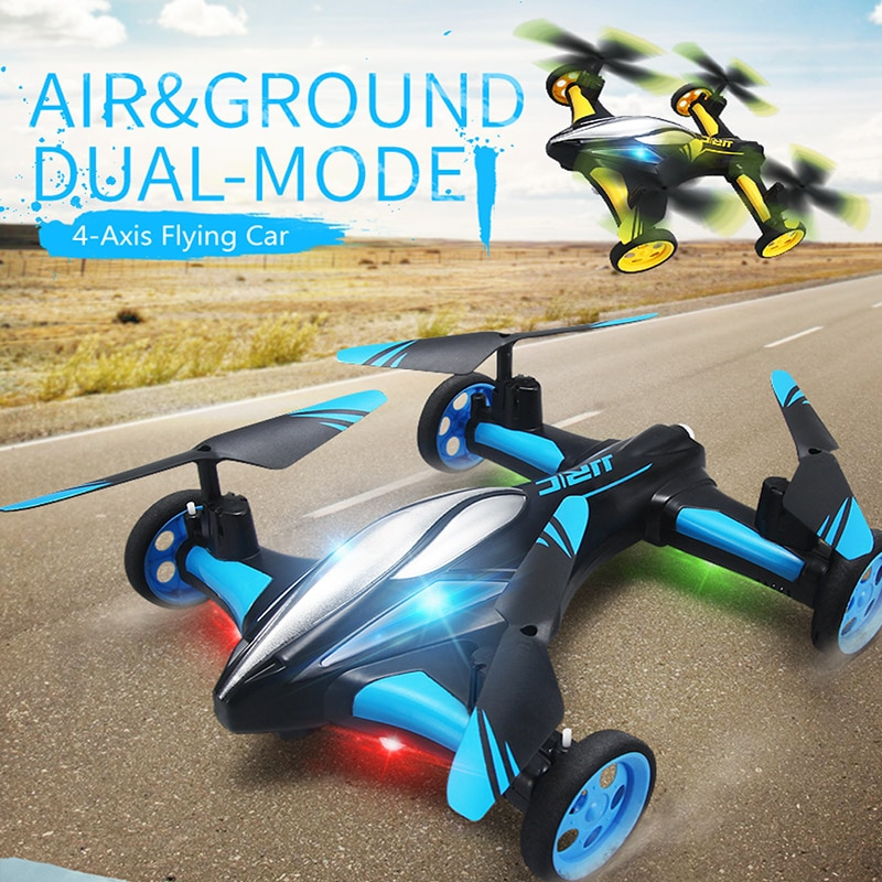 2.4G RC الطائرة بدون طيار الهواء الأرض سيارة طائرة H23 Quadcopter مع ضوء واحدة مفتاح العودة التحكم عن بعد الطائرات بدون طيار نموذج هليكوبتر أفضل اللعب