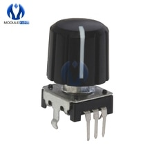 5 pièces 360 Degré dangle Codeur Rotatif EC12 Audio Potentiomètre Numérique 15mm Poignée 10mA 20 Impulsions Pour Arduino Microcontrôleur PIC