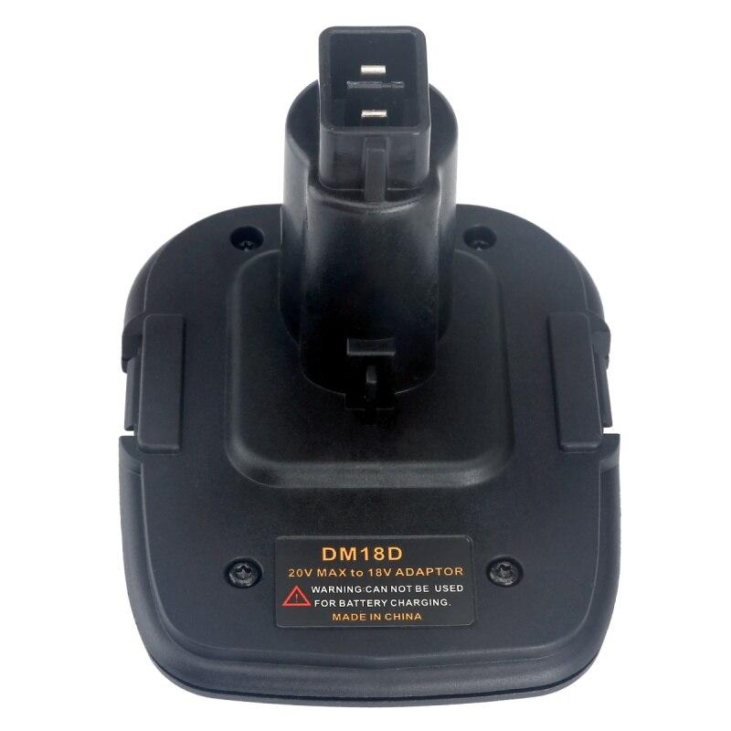 Battery Adapter Makita Hitachi For Dewalt DM18D Converter Milwaukee Battery To Dewalt Tools 18 V Transformation 20 V