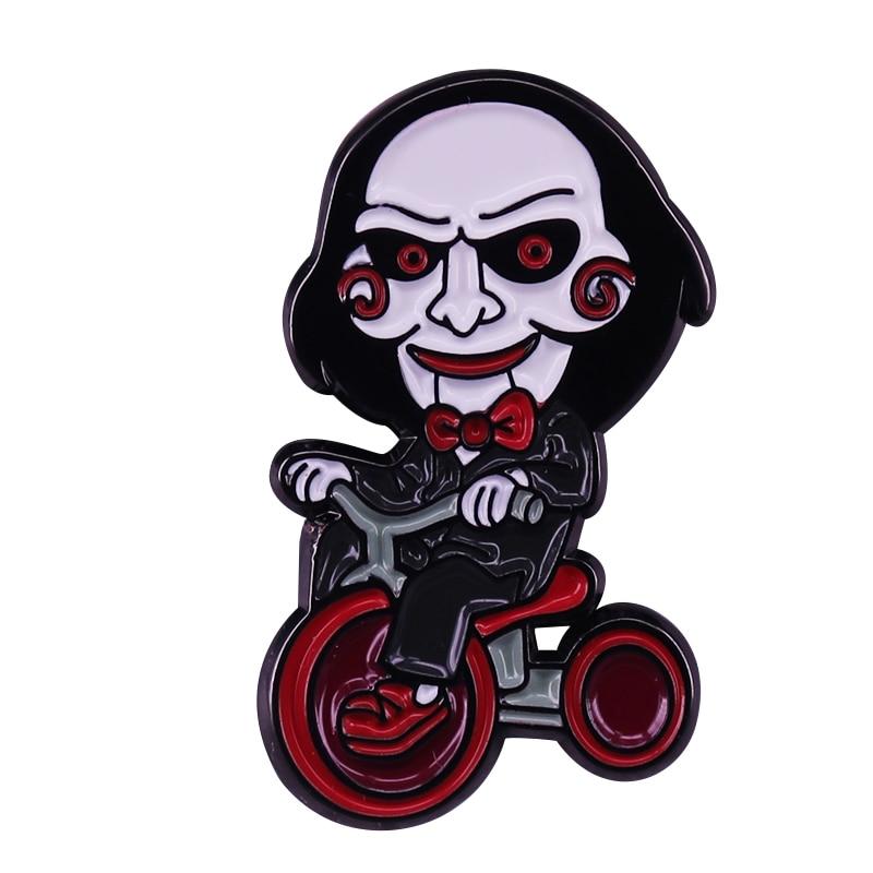 Rompecabezas Billy marionetas insignia Saw Evil Horror película Fans deben tener accesorio de Halloween