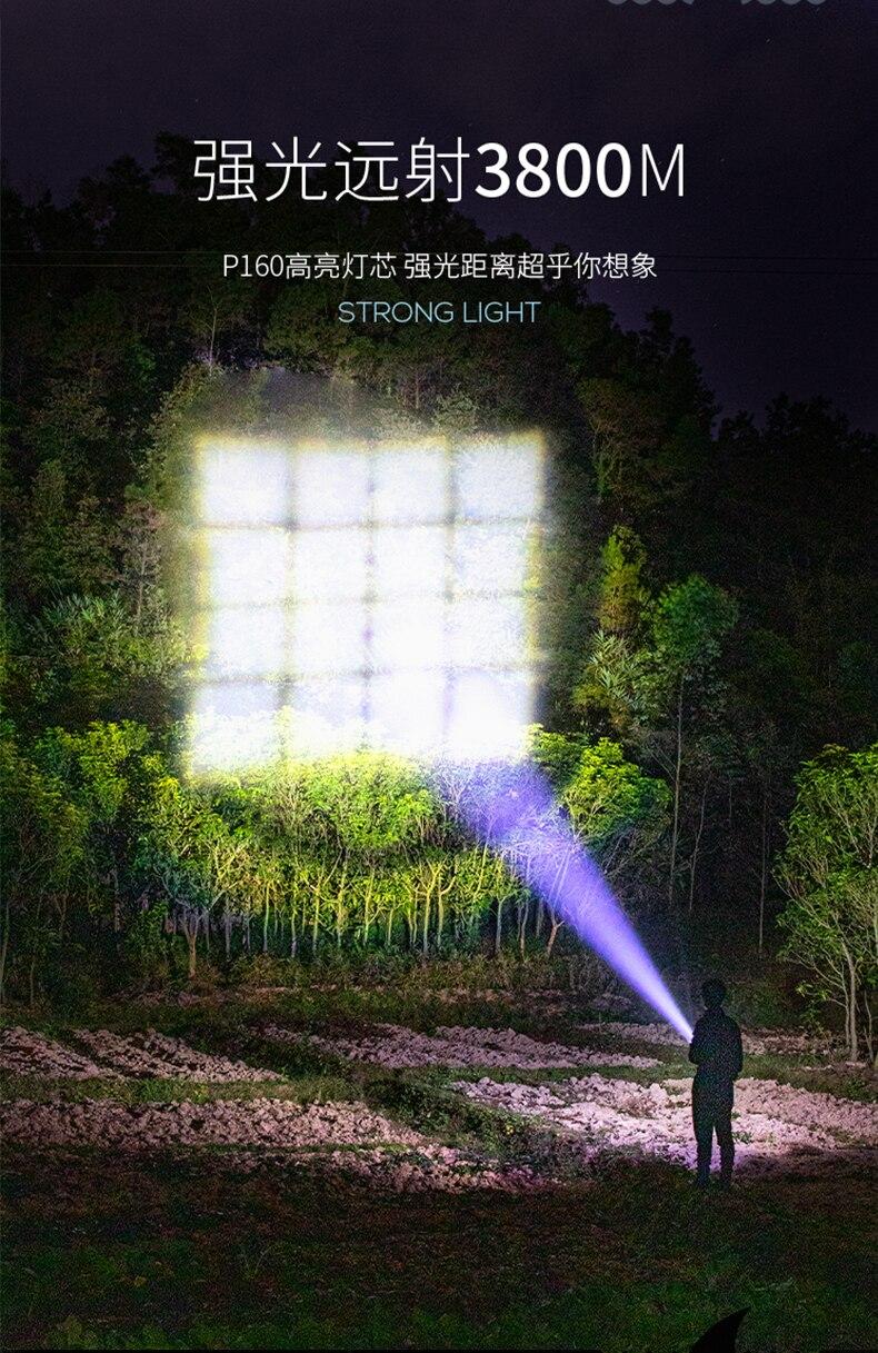 Portable Waterproof Flashlight Outdoor Camping Defense Security Rechargeable Flashlight Lumen Lighting Lanterna Self Defense BC enlarge