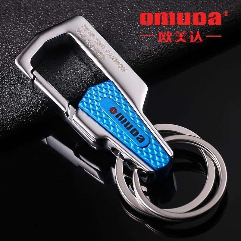 Брелок OMUDA, брелок для автомобильных ключей, кольцо для ключей из нержавеющей стали, брелки для друзей, мужчин и женщин, подарки