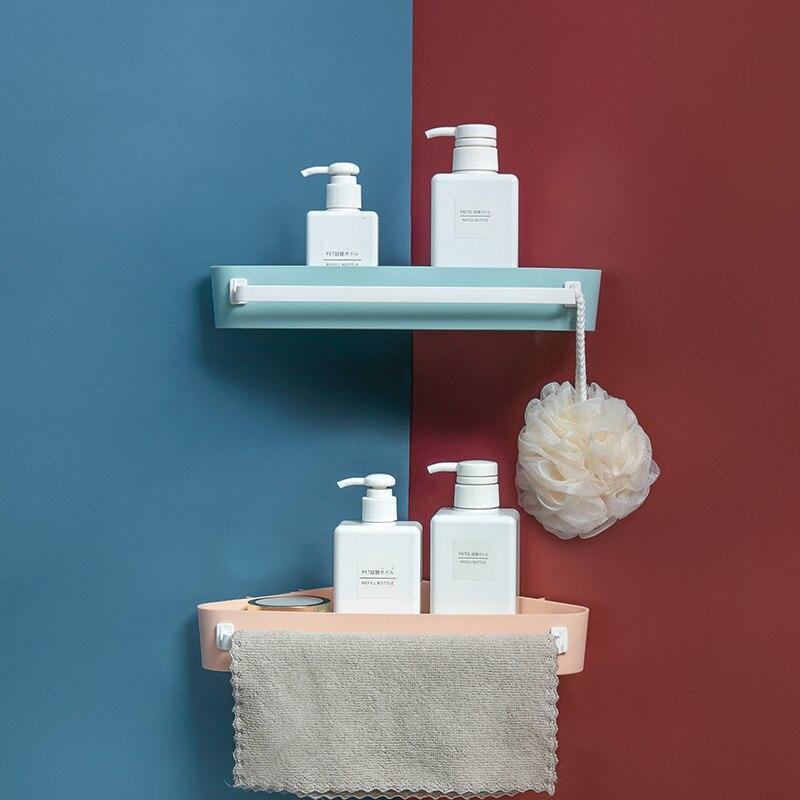 LIYIMENG 5 цветов угловая полка для ванной полка держатель треугольник пластиковая корзина для хранения бесдырочная кухонная Ванная Комната Хр...
