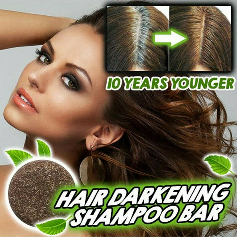 Hot Hair Darkening Shampoo Bar Oil Control Nourishing Moisturizing Soothing Cleaning Hair Treatment Nourish Restore Soft Hair M3