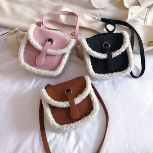 2021 Saddle Bag Spring and Summer Women's Bags Furry Shoulder Crossbody Advanced Western Style Small Bag Frosted Vintage Korean