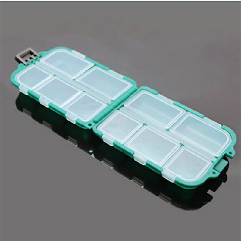 10 Grids Portable Folding Pill Case Medicine Pills Box Cases Drugs Capsule Tablet Container Plastic Empty Drug Organizer Pillbox