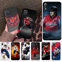 HPCHCJHM Alexander Ovechkin Nhl Star Hockey Phone Cover Capa For Samsung A10 A20 A30 A40 A50 A70 A71 A51 A6 A8 2018