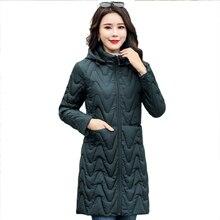 2019 hiver veste femme femme grande taille 4XL capuche femmes Parka coton doudoune grande taille automne mince pardessus