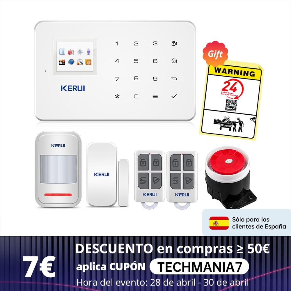 AliExpress - KERUI Wireless Smart Home GSM Security Alarm System SMS APP Control House Motion Detector Sensor Burglar Signal Device IP Camere