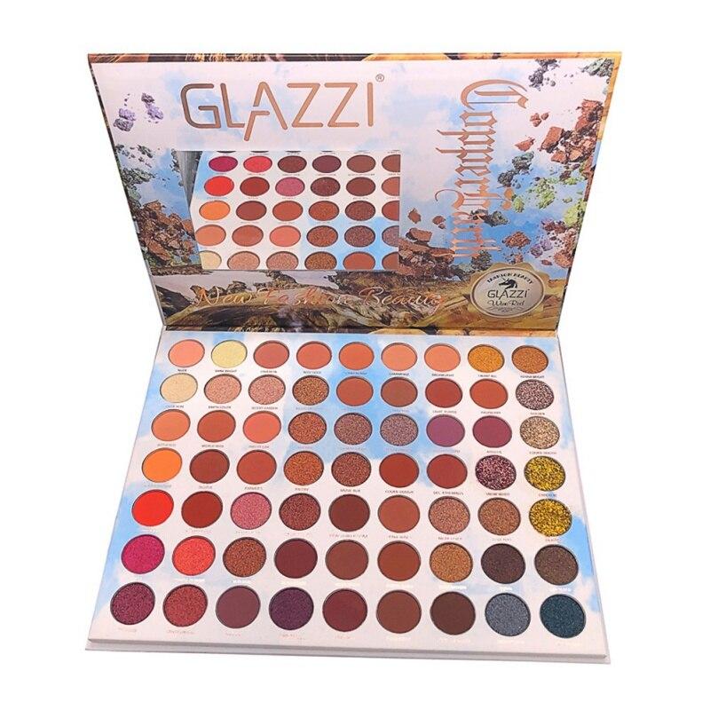 63 cores glitter sombra paleta terra sombra cor maquiagem pigmentada paleta brilho sombra de olho