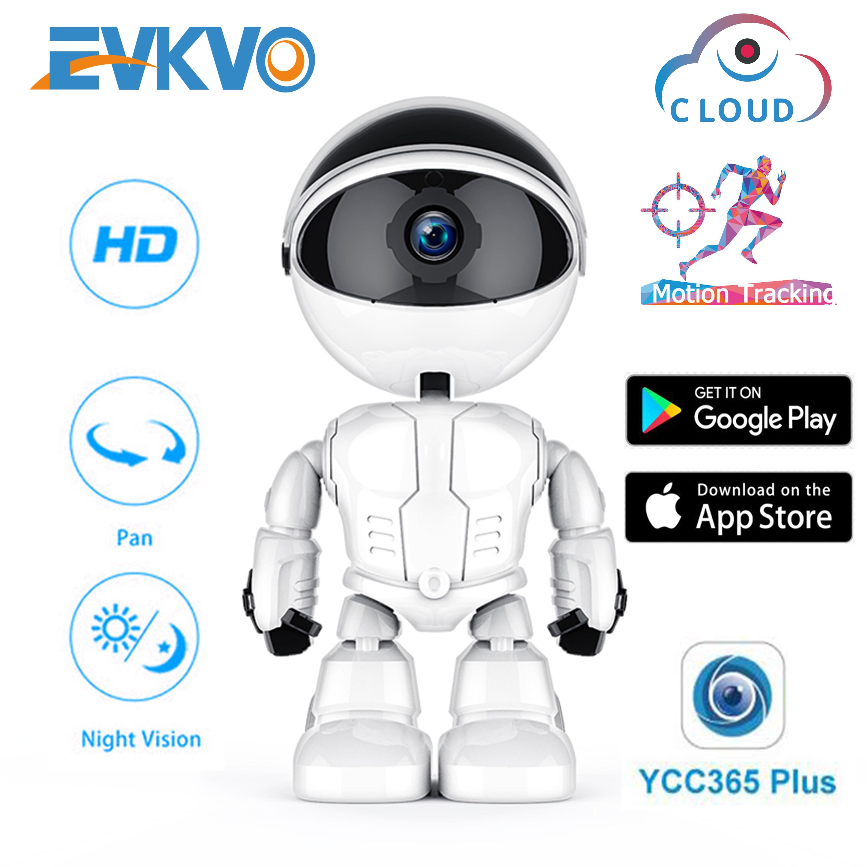 1080P الذكية كاميرا روبوت كاميرا شبكية عالية الوضوح واي فاي كاميرا لاسلكية مراقبة الطفل كشف الحركة للرؤية الليلية كاميرا الأمن YCC365 APP