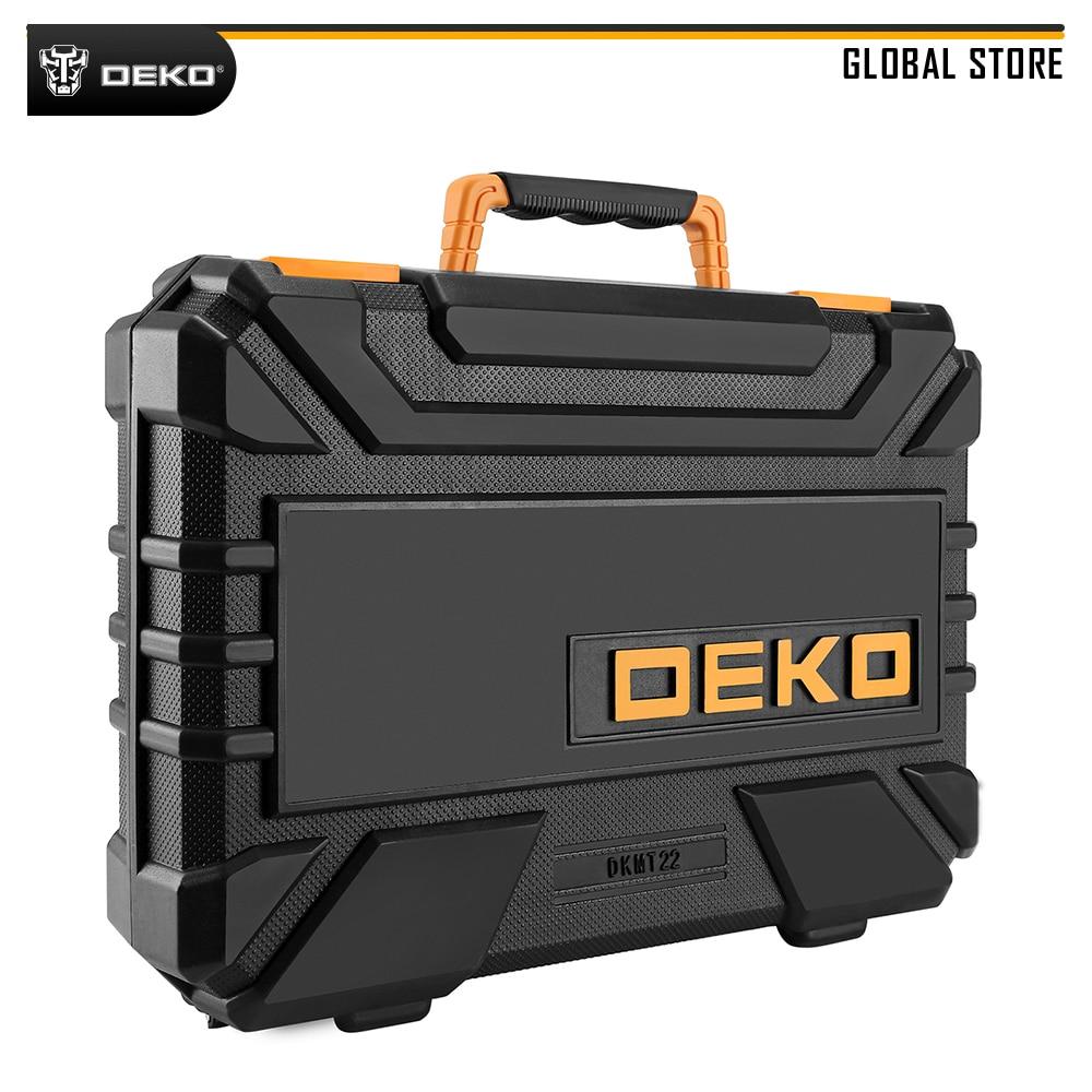 Deko dkmt22 profissional conjunto de ferramentas de reparo do carro chave de fenda chave de fenda chave de fenda chave de fenda mecânica kit com caixa de moldagem por sopro
