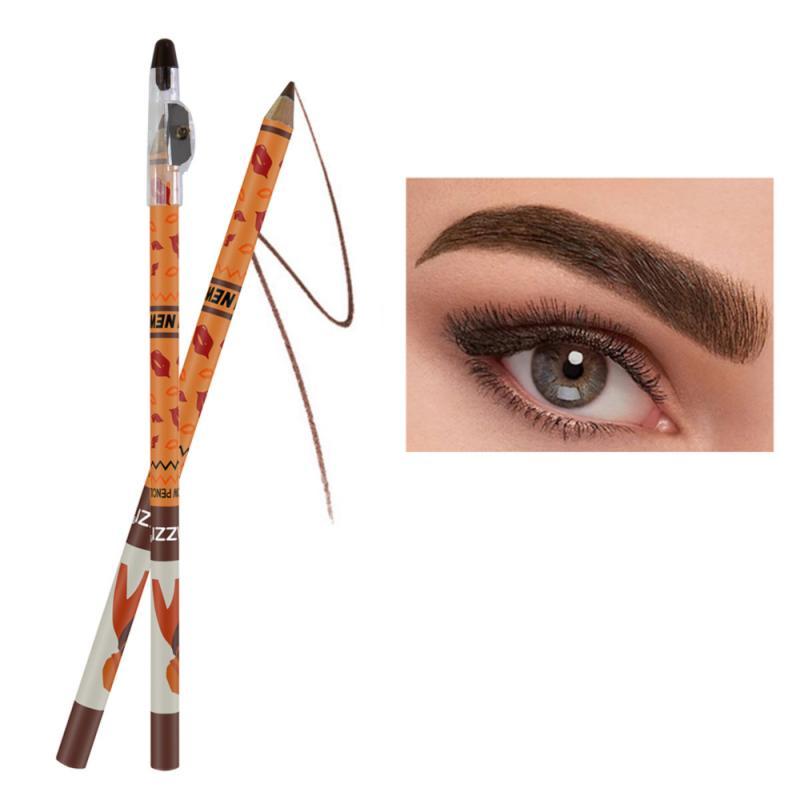 1pcs Eye Brow Pencils Make Up Set 2 Colors Waterproof Eyebrow Eye Liner Pen Lip sticks Cosmetics Bea