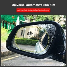 2pcs Car Rearview Mirror Film 15*10 Cm HD Anti-Fog Anti-Scratch Rainproof Retrovisor Clear Car Mirro