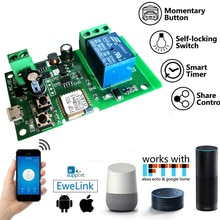 eWeLink wifi switch DC 12v 24v 32v Inching/Self-Locking wireless Relay module Smart home Automation for Door access Alexa google