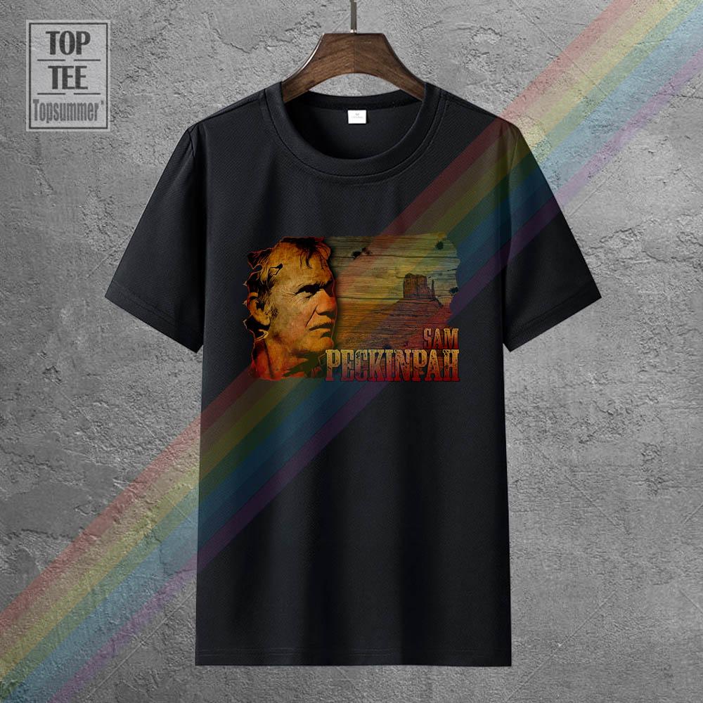 Футболка Sam Peckinpah, ретро Готическая футболка, забавная свитшот в стиле грандж, белые футболки, ужас, Череп, футболка