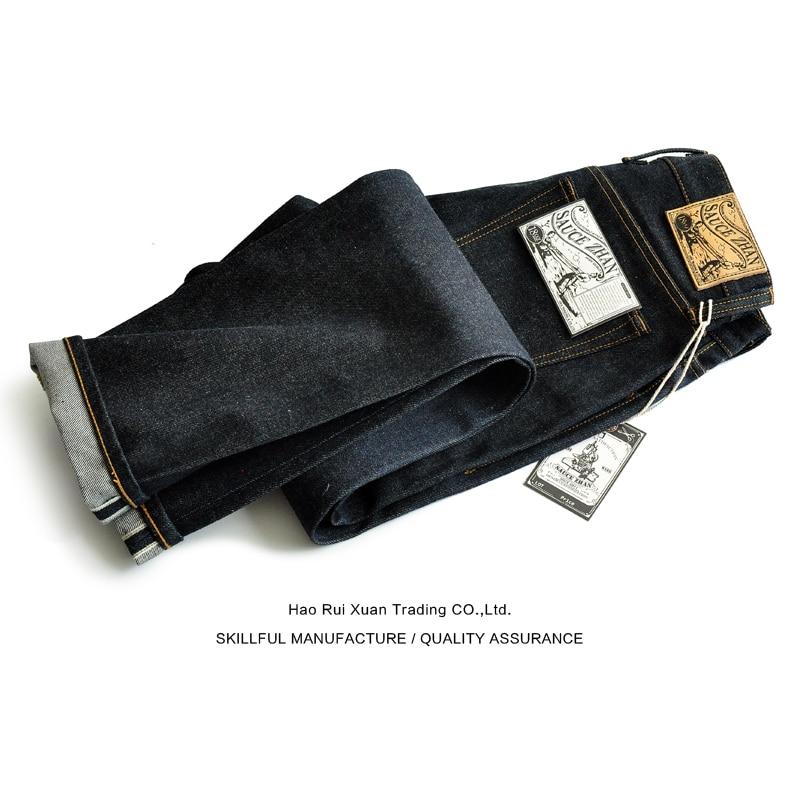 SauceZhan 315XX-18OZ Men Jeans Denim Jeans for Men Taper Fit Selvedge Denim Raw Jeans Blue Jeans Thick 18 OZ Vintage