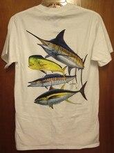 GUY HARVEY Small T Shirt Fishing Sailfish Tee Swordfish Wahoo W Mahi Mahi