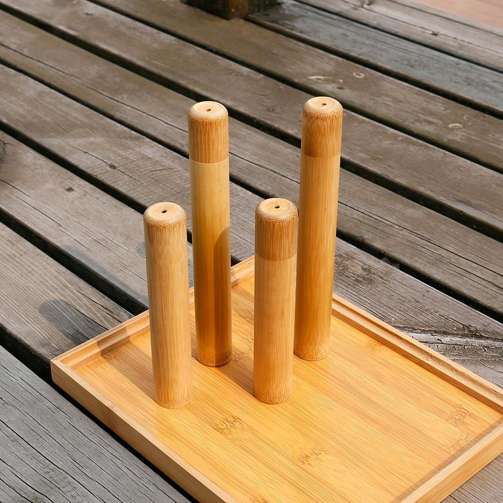 Adultos niños funda de bambú Natural ecológico cepillo de dientes de bambú tubo para caja de cepillo de dientes hecho a mano baño cepillo de dientes Accesorios