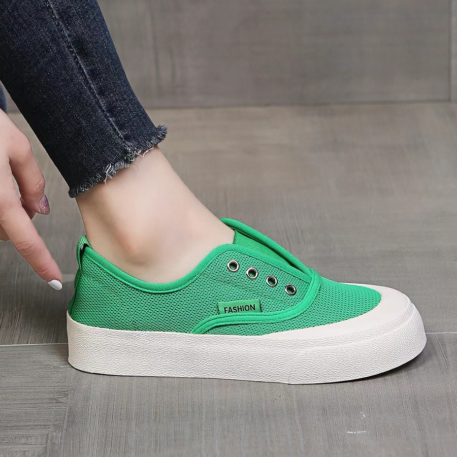 Woman Sneakers Casual Vulcanize Shoes  Mesh Breathable Summer Autumn Running Sport Skateboarding Flats 2021 Shoes For Women