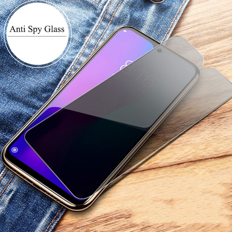 Vidrio templado de privacidad para Samsung A40S M40 M30 M20 M10 Protector de pantalla Anti espía para el modelo Samsung galaxy A7 A9 2018 A6 A8 Plus Glass