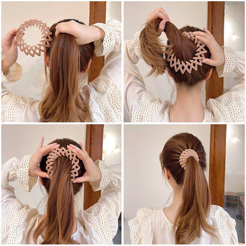 Женский зажим для волос, аксессуары для плетения, однотонные волшебные аксессуары для волос в виде акулы, аксессуары для волос