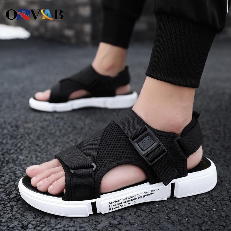 Men Sandals Soft Comfortable Non-Slip Men Shoes High Quality Woven Beach Sandals Mens Gladiator Sandals Summer Casual Flat Shoes